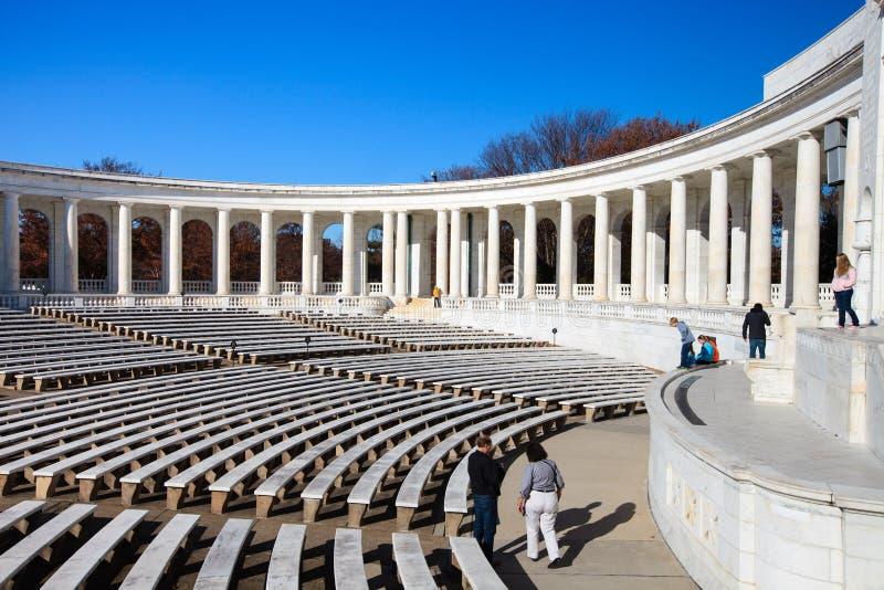 Cimetière national d'Arlington d'amphithéâtre commémoratif photo stock