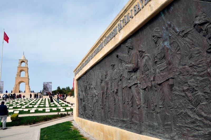 Cimetière turc de guerre, Gelibolu/Gallipoli, Turquie photographie stock