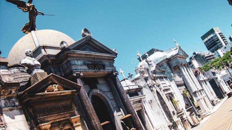 Cimeti?re de Recoleta de La ? Buenos Aires, Argentine photos libres de droits