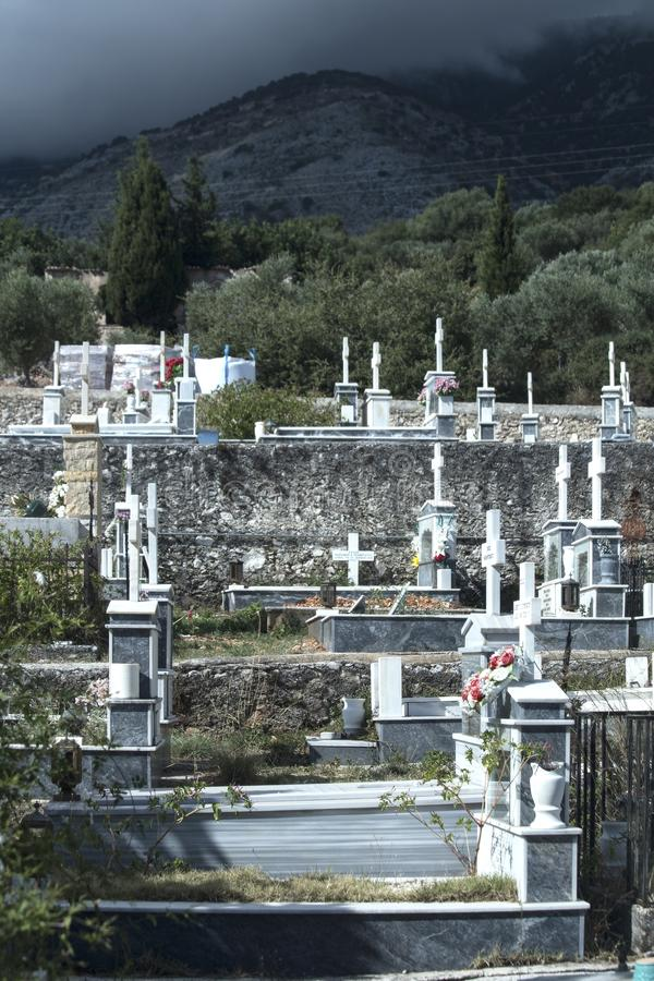 Cimeti?re orthodoxe grec photos libres de droits
