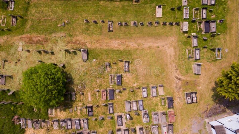 Cimitero aereo fotografie stock