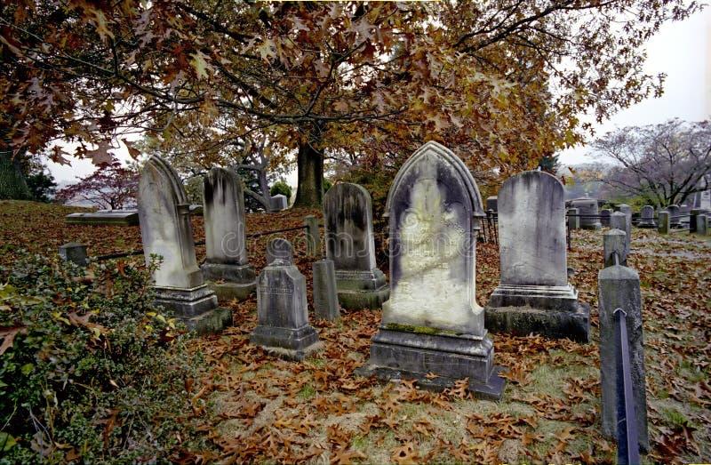 Cimitero alla cavità sonnolenta fotografia stock
