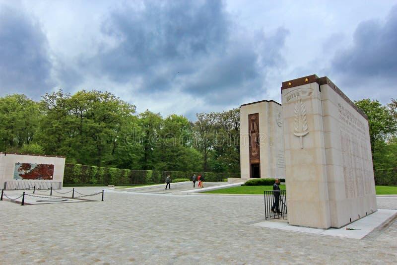 Cimitero americano a Lussemburgo immagine stock