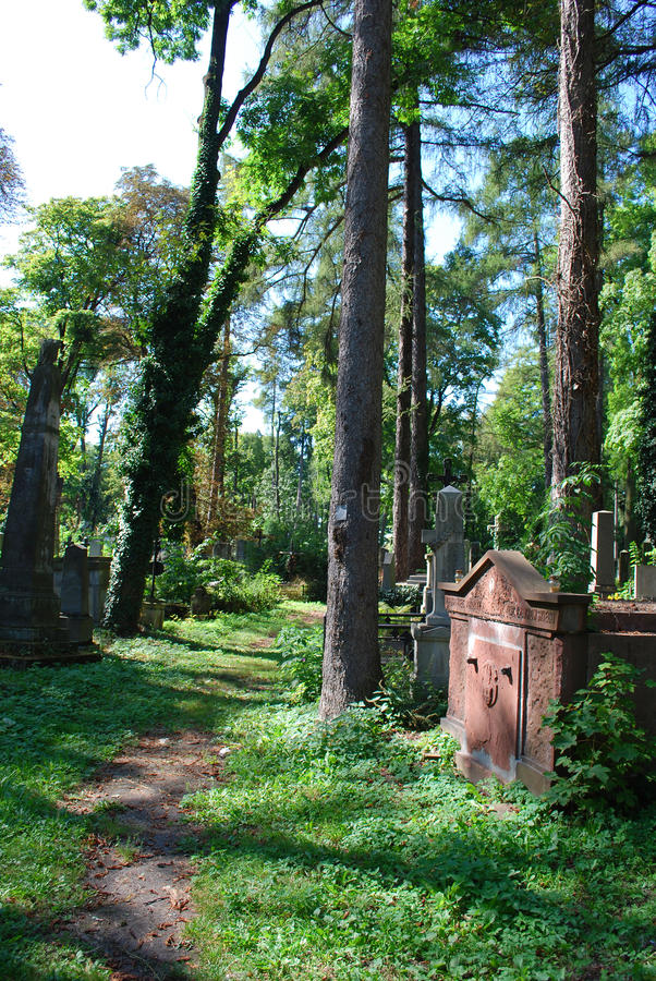 Cimitero antico a Lviv fotografie stock libere da diritti