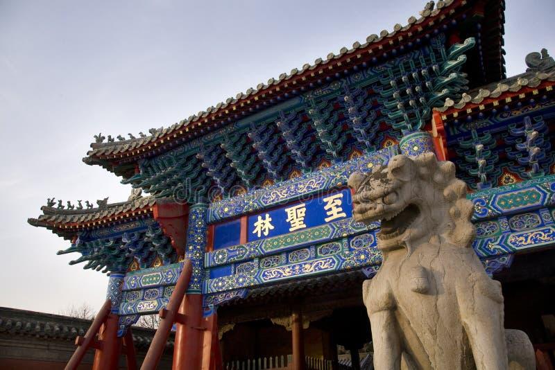 Cimitero Cina del Confucius del cancello immagini stock