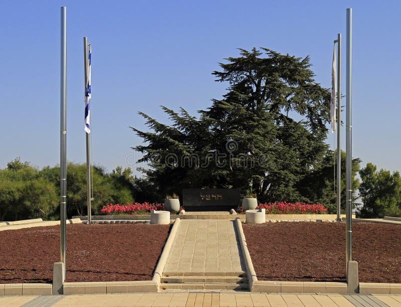 Cimitero civile nazionale a Gerusalemme fotografie stock libere da diritti