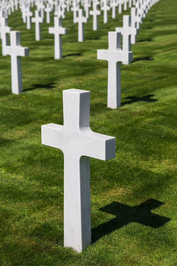 Cimitero commemorativo americano della seconda guerra mondiale a Lussemburgo fotografia stock libera da diritti