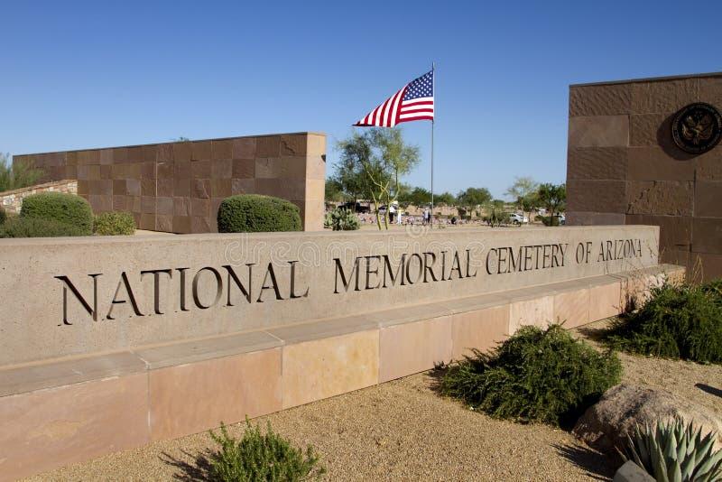 Cimitero commemorativo nazionale dei veterani dell'Arizona immagini stock libere da diritti
