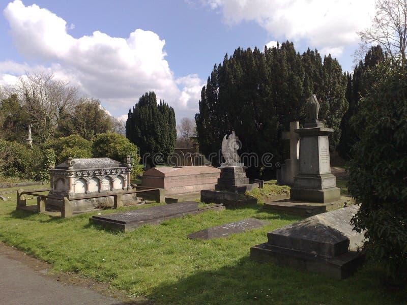 Cimitero comune più basso di Putney, Londra, Inghilterra fotografia stock