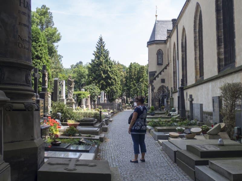 Cimitero del ehrad del ¡ di VyÅ, Praga immagine stock libera da diritti