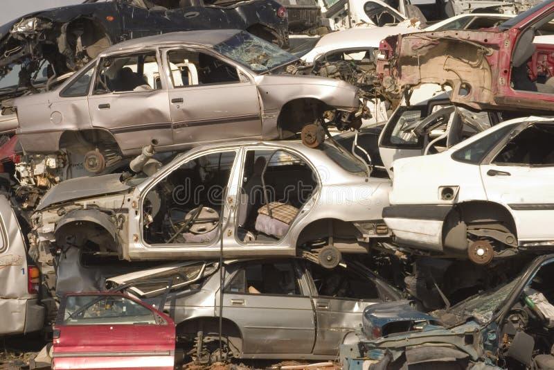Cimitero dell'automobile immagine stock libera da diritti