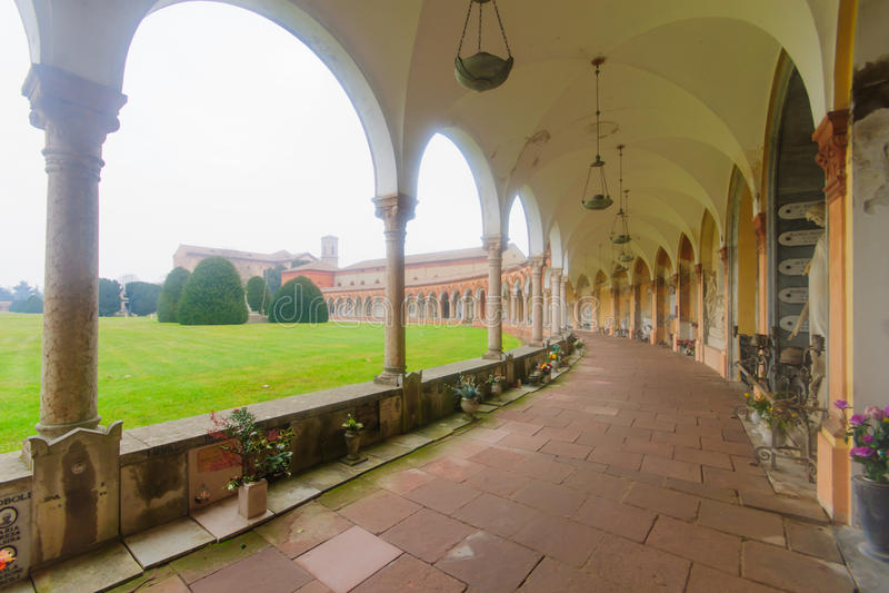 Cimitero della Certosa, Ferrara arkivbilder