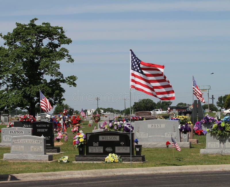Cimitero della città di Sallisaw, Memorial Day, il 29 maggio 2017 fotografia stock