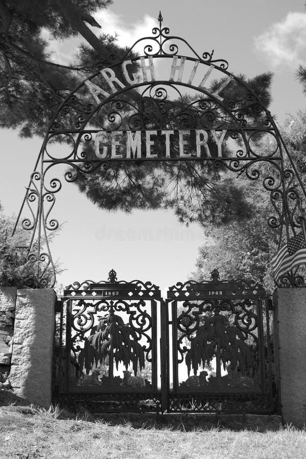 Cimitero della collina di Argh fotografia stock libera da diritti