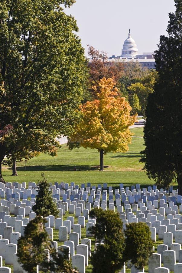 Cimitero di Arlington immagine stock
