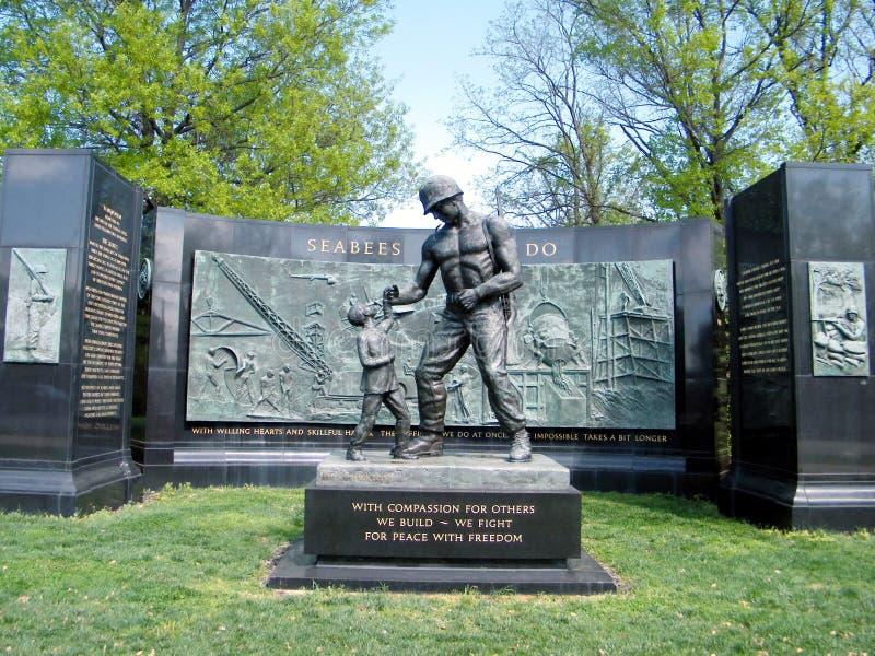 Cimitero di Arlington il memoriale nazionale 2010 del Seabee immagine stock