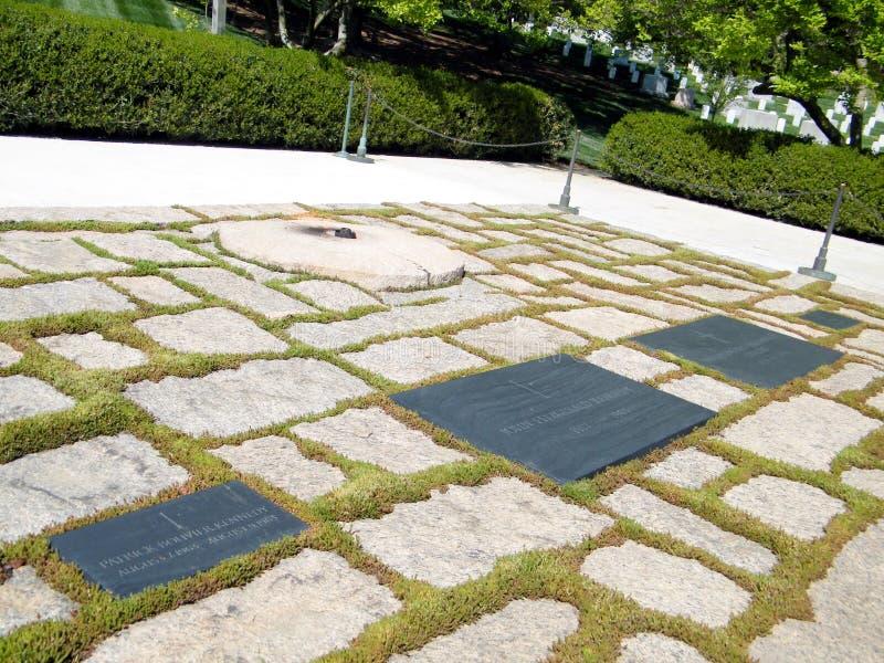 Cimitero di Arlington Kennedy Grave 2010 immagine stock libera da diritti
