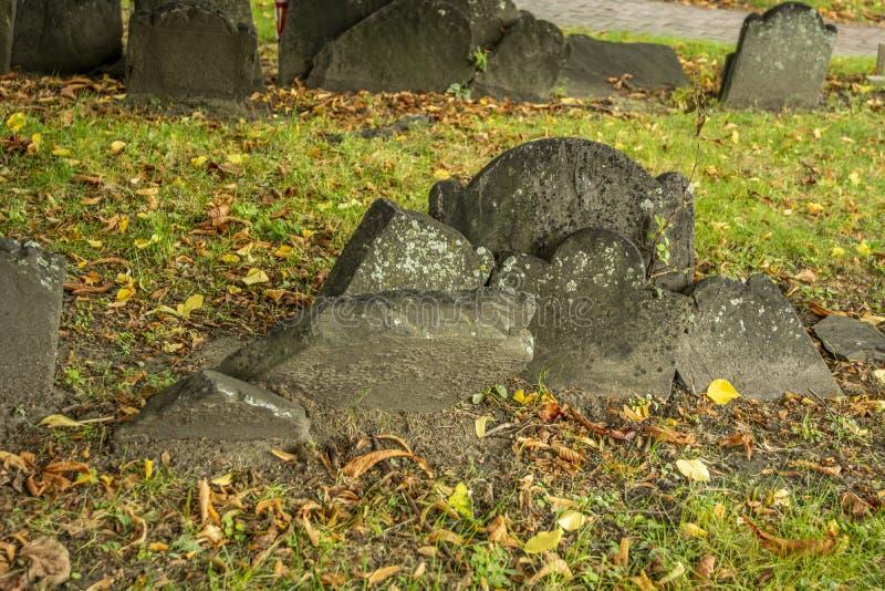 Cimitero di Graveyard immagine stock