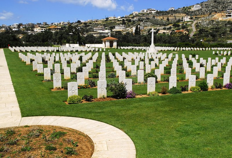 Cimitero di guerra in crete fotografie stock libere da diritti