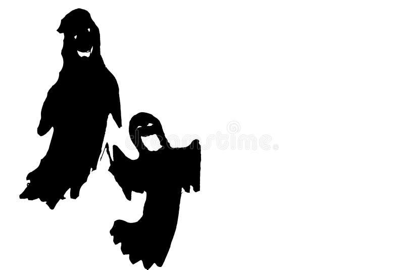 Cimitero di Halloween e dei fantasmi fotografie stock libere da diritti