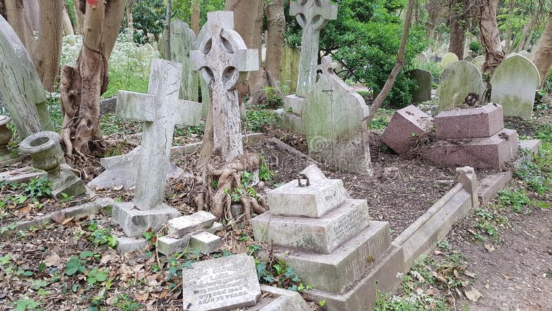 Cimitero di Highgate fotografia stock