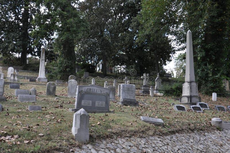 Cimitero di Hollywood a Richmond, la Virginia fotografia stock