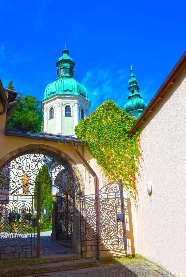 Cimitero di Peter a Salisburgo fotografie stock libere da diritti