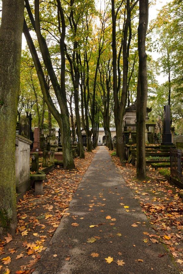 Cimitero di Powazki immagine stock libera da diritti