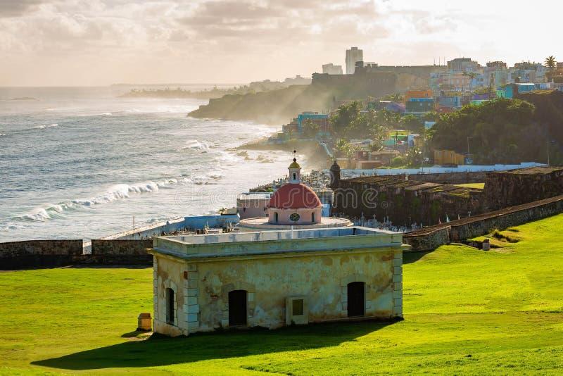 Cimitero di Santa Maria in San Juan Puerto Rico fotografia stock