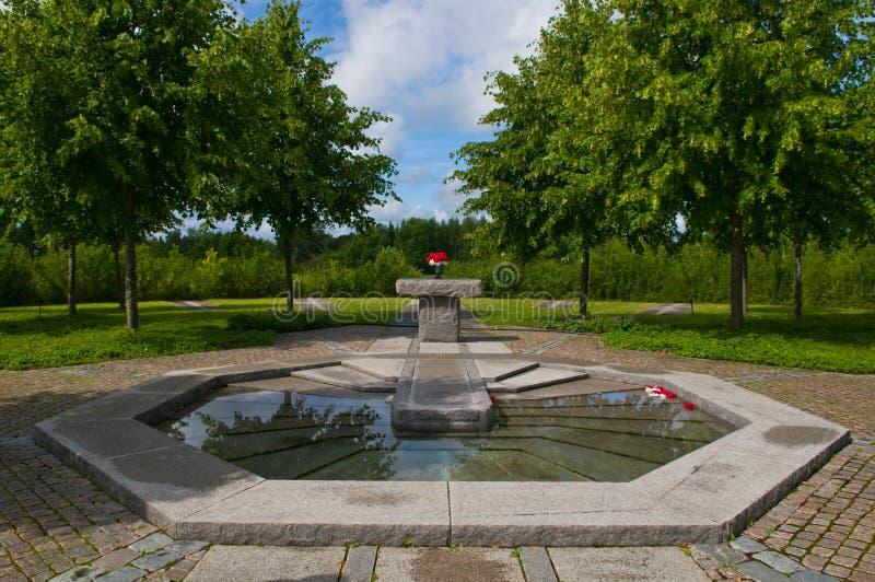Cimitero di Upsala immagini stock