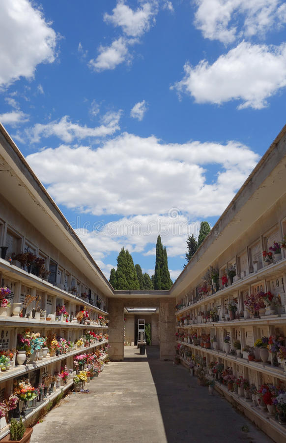 Cimitero di Verano, tombe cristiane fotografia stock