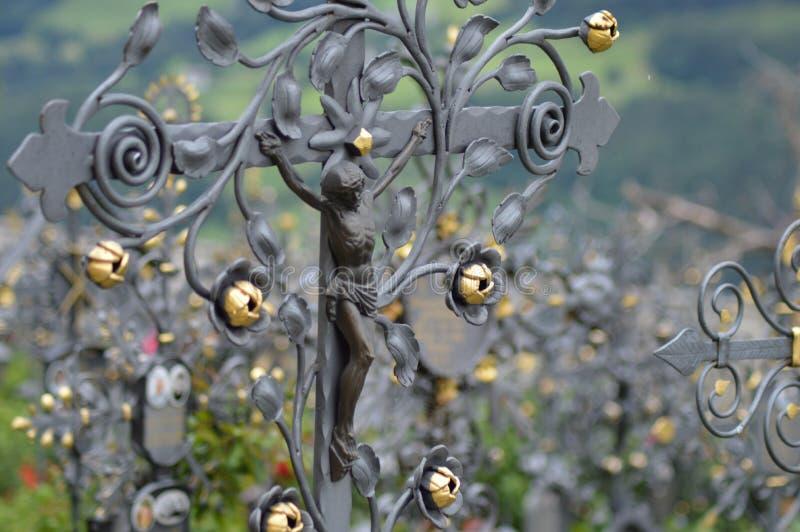 Cimitero di Villandro immagini stock libere da diritti