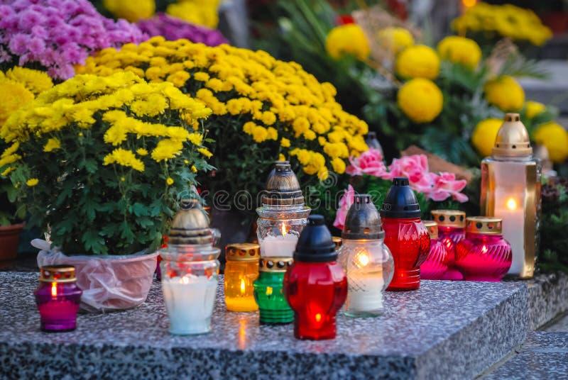Cimitero di Wola a Varsavia fotografia stock libera da diritti
