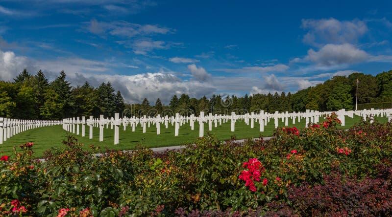 Cimitero e memoriale americani del Lussemburgo immagini stock
