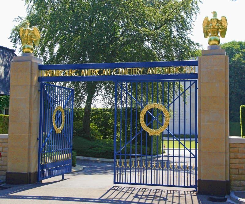 Cimitero e memoriale americani del Lussemburgo fotografie stock