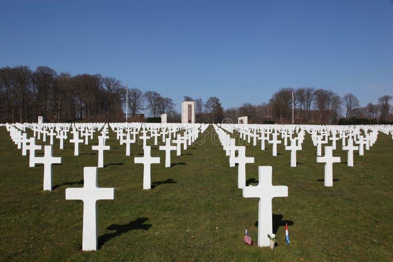 Cimitero e memoriale americani del Lussemburgo immagini stock libere da diritti