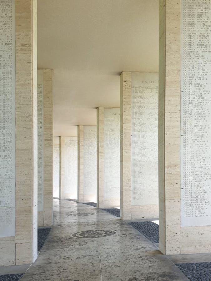 Cimitero e memoriale americani di Manila immagine stock