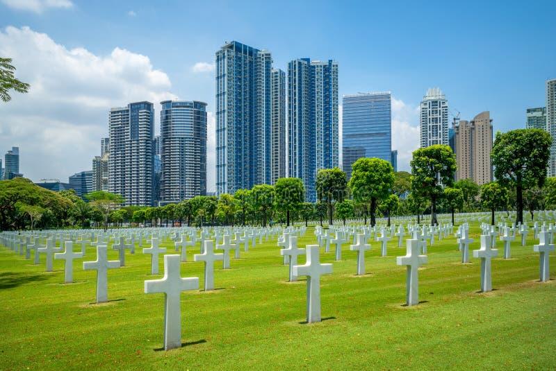 Cimitero e memoriale americani, Manila, Filippine immagini stock