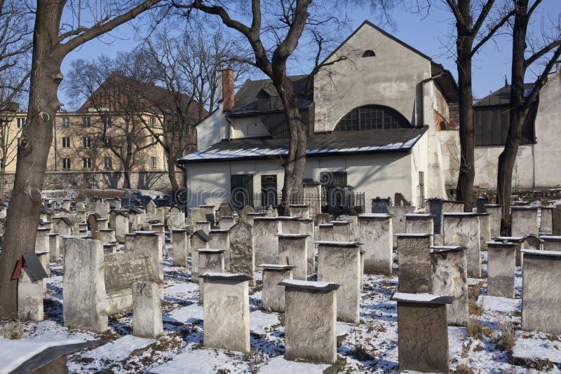 Cimitero ebreo - Cracovia - Polonia immagini stock