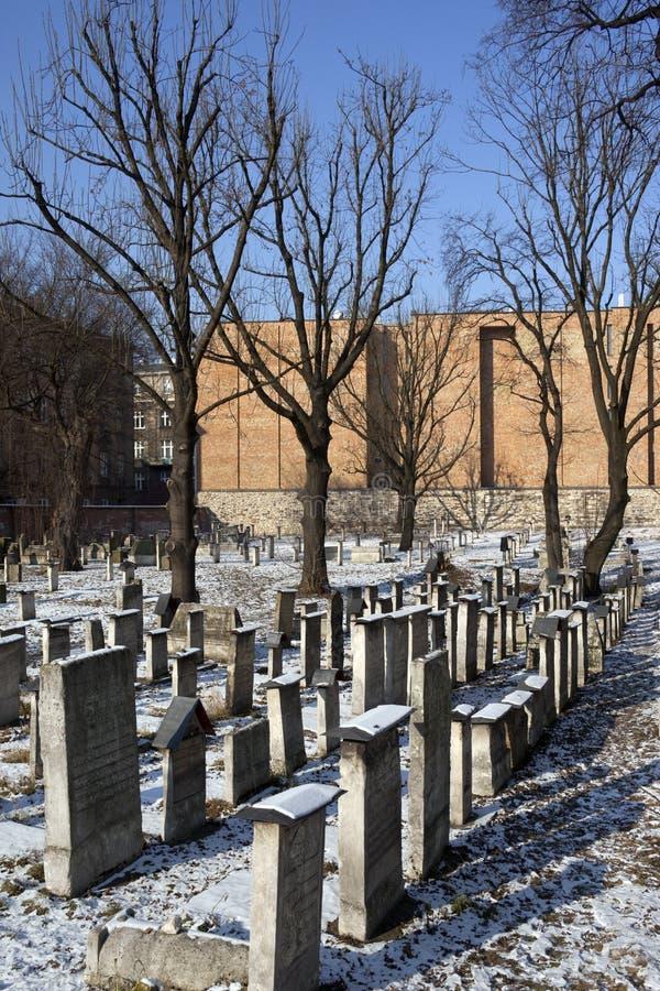 Cimitero ebreo - Cracovia - Polonia immagine stock