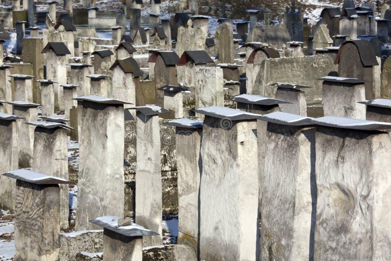 Cimitero ebreo - Cracovia - Polonia immagini stock libere da diritti