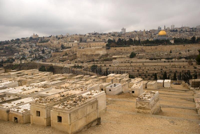 Cimitero ebreo, Gerusalemme, Israele fotografia stock libera da diritti