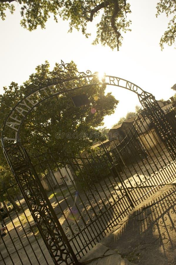 Cimitero famoso di Lafayette a New Orleans fotografia stock