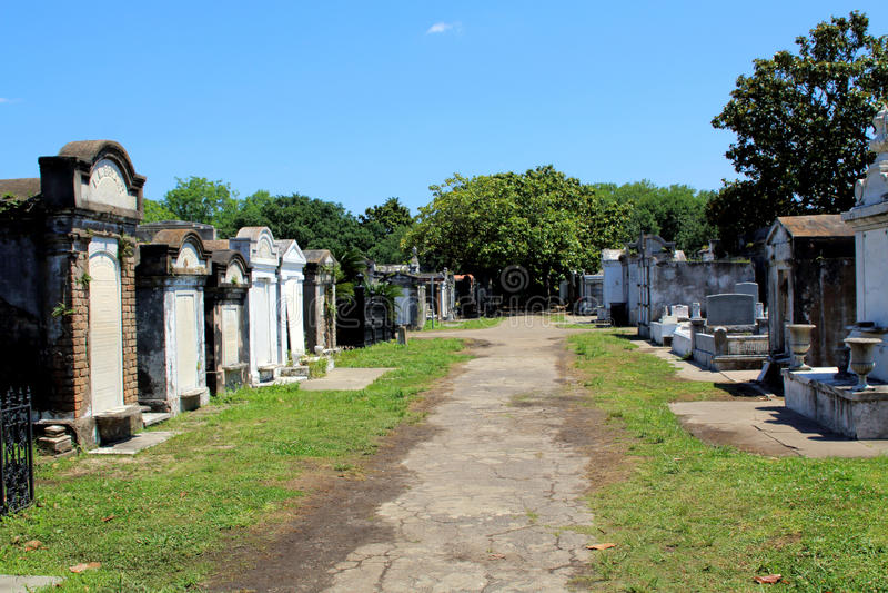Cimitero francese coloniale a New Orleans fotografia stock
