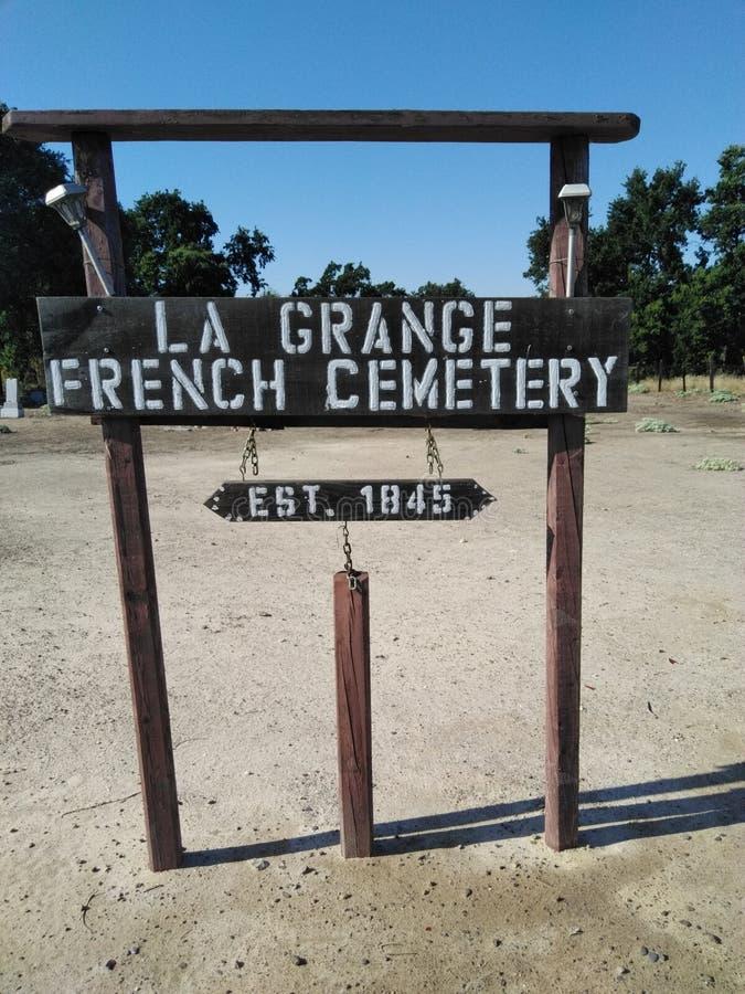 Cimitero francese di Lagrance fotografie stock