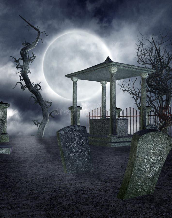 Cimitero gotico 2 royalty illustrazione gratis