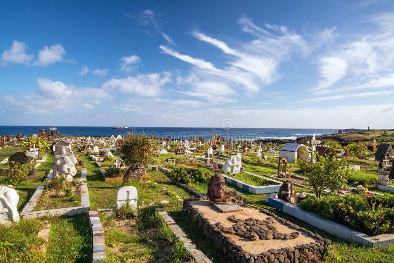 Cimitero locale nell'isola di pasqua immagini stock libere da diritti