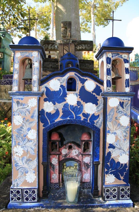 Cimitero messicano nel parco di Xcaret, penisola dell'Yucatan immagine stock libera da diritti