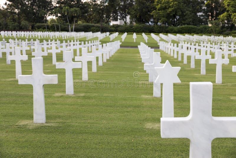Cimitero militare di guerra con la stella ebrea immagine stock