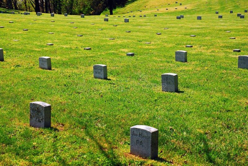 Cimitero militare la Virginia immagini stock libere da diritti